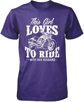 This Girl Loves to Ride with Her Husband T-Shirt