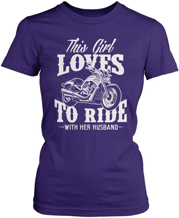 This Girl Loves to Ride with Her Husband Women's Fit T-Shirt