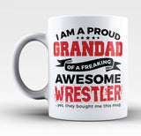 Proud Grandad of An Awesome Wrestler - Mug