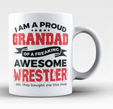Proud Grandad of An Awesome Wrestler - Coffee Mug / Tea Cup