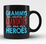 Grammys - Grandkids Real Hero - Black Mug / Tea Cup