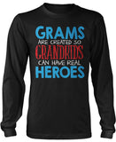Grams - Grandkids Real Hero Long Sleeve T-Shirt