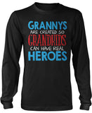 Grannys - Grandkids Real Hero Long Sleeve T-Shirt