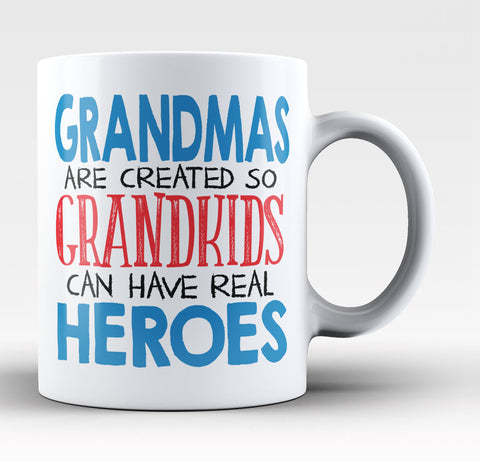 Grandmas - Grandkids Real Hero - Coffee Mug / Tea Cup