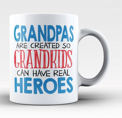 Grandpas - Grandkids Real Hero - Coffee Mug / Tea Cup