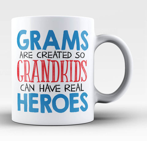 Grams - Grandkids Real Hero - Coffee Mug / Tea Cup