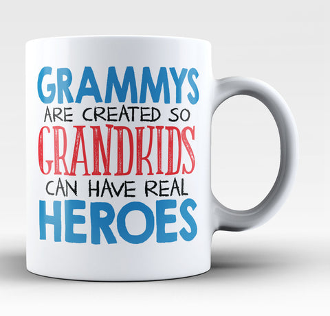Grammys - Grandkids Real Hero - Coffee Mug / Tea Cup