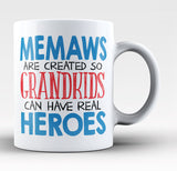 Memaws - Grandkids Real Hero - Coffee Mug / Tea Cup