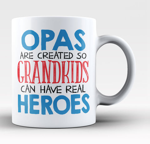 Opas - Grandkids Real Hero - Coffee Mug / Tea Cup