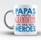 Papas - Grandkids Real Hero - Mug
