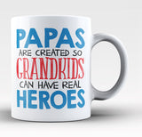 Papas - Grandkids Real Hero - Coffee Mug / Tea Cup