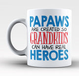 Papaws - Grandkids Real Hero - Mug