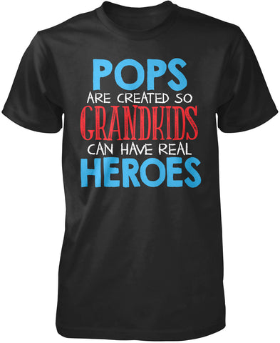 Pops - Grandkids Real Hero T-Shirt