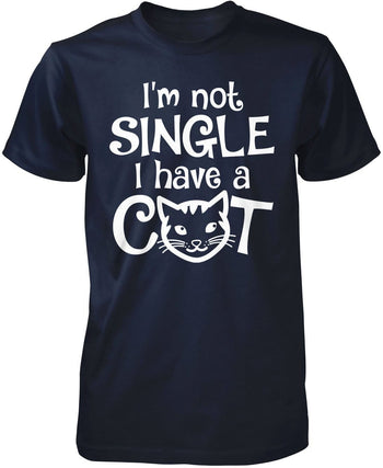 I'm Not Single I Have a Cat - Premium T-Shirt / Navy / S