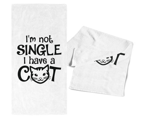 I'm Not Single I Have a Cat - Gym / Kitchen Towel