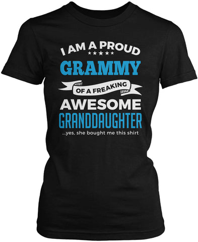 Proud Grammy of An Awesome Granddaughter Women's Fit T-Shirt