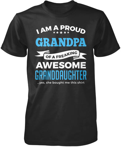 Proud Grandpa of An Awesome Granddaughter T-Shirt