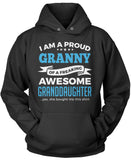 Proud Granny of An Awesome Granddaughter Pullover Hoodie Sweatshirt
