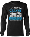 Proud Granny of An Awesome Granddaughter Long Sleeve T-Shirt