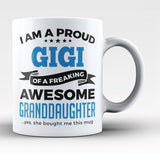 Proud Gigi of An Awesome Granddaughter - Coffee Mug / Tea Cup
