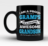 Proud Gramps of An Awesome Grandson - Mug