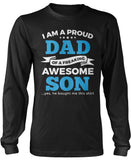 Proud Dad of An Awesome Son Longsleeve T-Shirt