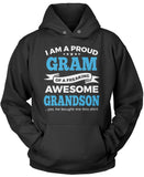 Proud Gram of An Awesome Grandson Pullover Hoodie Sweatshirt