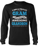 Proud Gram of An Awesome Grandson Long Sleeve T-Shirt