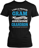 Proud Gram of An Awesome Grandson Women's Fit T-Shirt