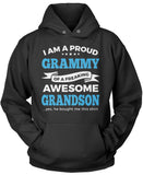 Proud Grammy of An Awesome Grandson Pullover Hoodie Sweatshirt