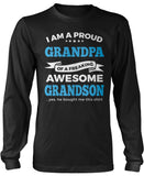 Proud Grandpa of An Awesome Grandson Long Sleeve T-Shirt