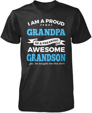 Proud Grandpa of An Awesome Grandson T-Shirt