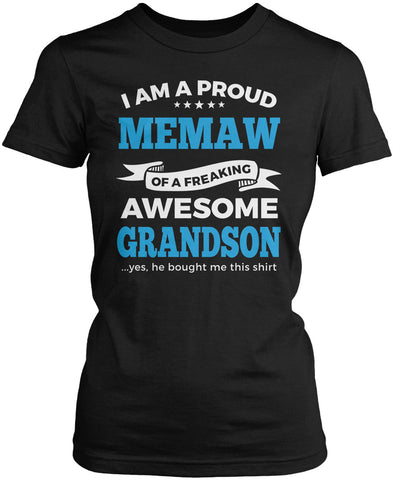 Proud Memaw of An Awesome Grandson Women's Fit T-Shirt