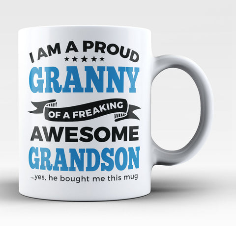 Proud Granny of An Awesome Grandson - Coffee Mug / Tea Cup