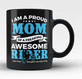 Proud Mom of An Awesome Motocross Rider - Black Mug / Tea Cup