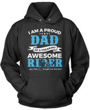 Proud Dad of An Awesome Motocross Rider Pullover Hoodie Sweatshirt