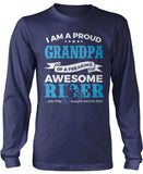 Proud Grandpa of An Awesome Motocross Rider Longsleeve T-Shirt