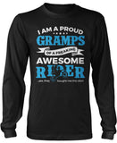 Proud Gramps of An Awesome Motocross Rider Long Sleeve T-Shirt