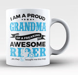Proud Grandma of An Awesome Motocross Rider - Coffee Mug / Tea Cup
