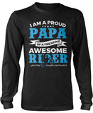 Proud Papa of An Awesome Motocross Rider Long Sleeve T-Shirt