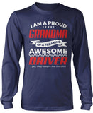 Proud Grandma of An Awesome Driver Longsleeve T-Shirt