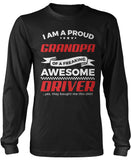 Proud Grandpa of An Awesome Driver Longsleeve T-Shirt