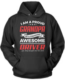 Proud Grandpa of An Awesome Driver Pullover Hoodie Sweatshirt