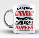 Proud Grandma of An Awesome Driver - Mug