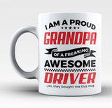 Proud Grandpa of An Awesome Driver - Mug