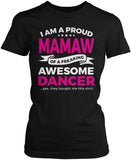 Proud Mamaw of An Awesome Dancer Women's Fit T-Shirt