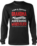 Proud Grandma of An Awesome Wrestler Longsleeve T-Shirt