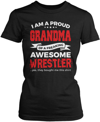 Proud Grandma of An Awesome Wrestler Women's Fit T-Shirt