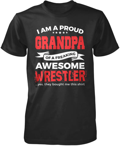 Proud Grandpa of An Awesome Wrestler T-Shirt
