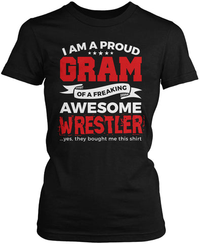 Proud Gram of An Awesome Wrestler Women's Fit T-Shirt